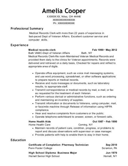 adecco staffing medical records clerk resume sample