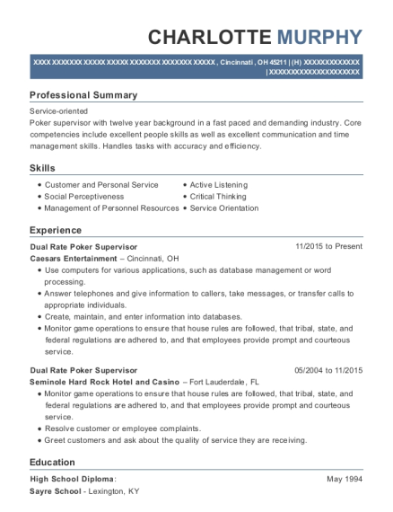 Poker room manager resume best course work ghostwriters site for phd