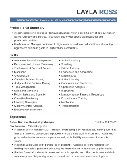 Sales resume format Ohio