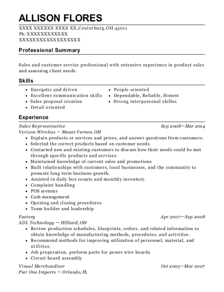 sherwin williams paint company sales representative resume