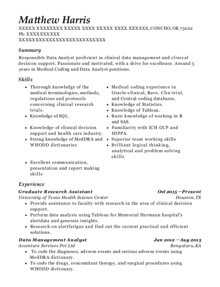 Graduate Research Assistant resume template Oklahoma