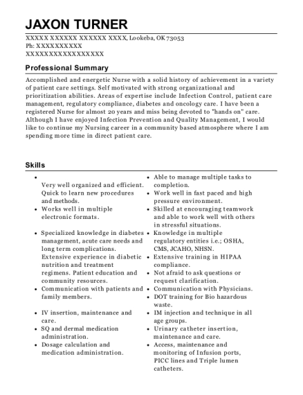 Quality Manager resume format Oklahoma