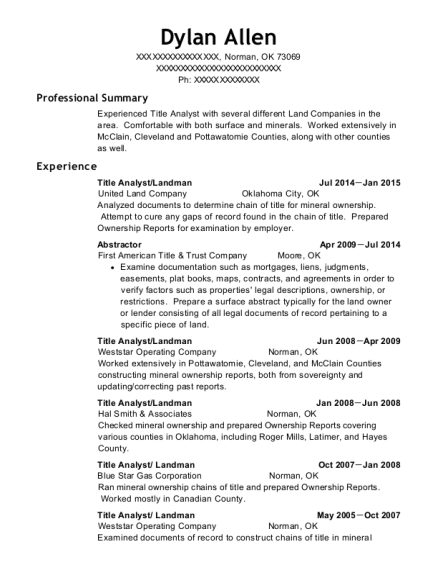 calcutta land services landman resume sample
