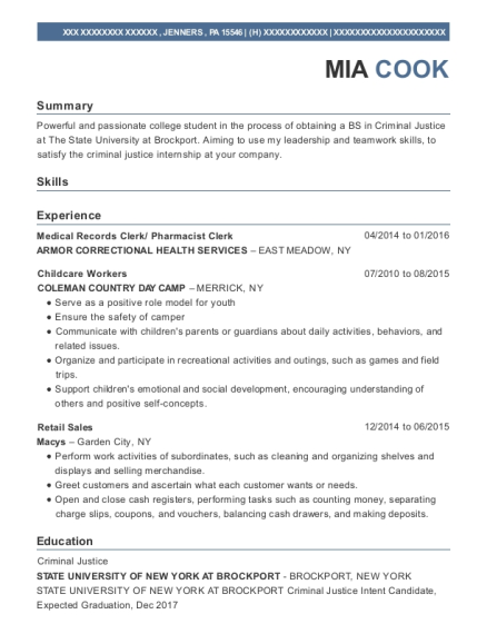 Medical Records Clerk resume template Pennsylvania