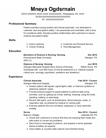 choc childrens float pool clinical associate resume sample