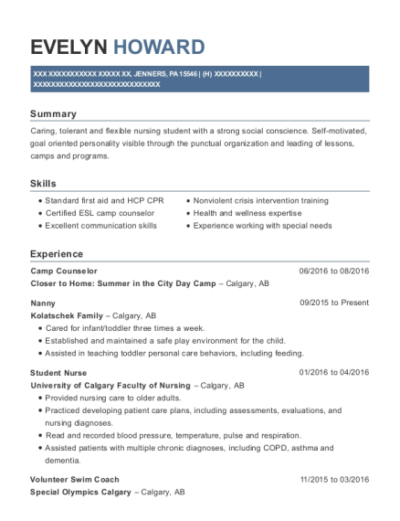 Camp Counselor resume format Pennsylvania