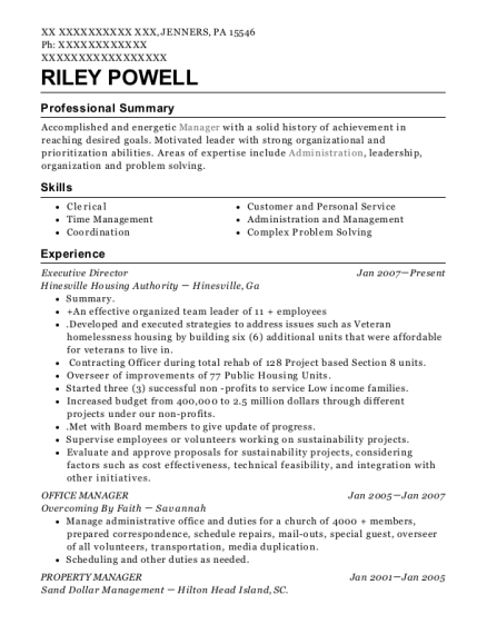 Executive Director resume example Pennsylvania