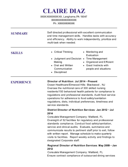 davita antelope valley dialysis renal dietitian ii resume