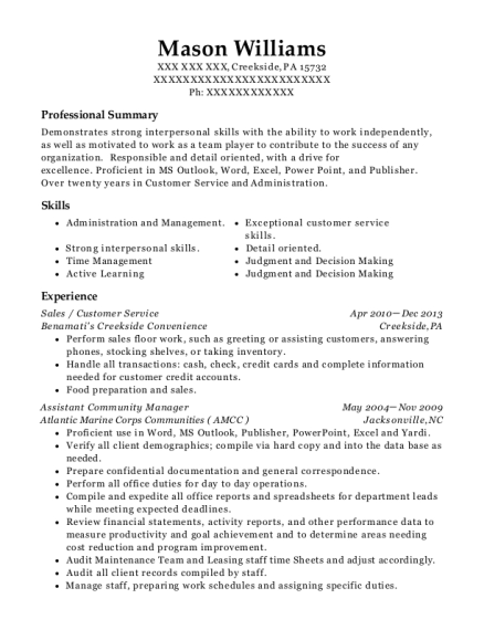 Sales resume template Pennsylvania