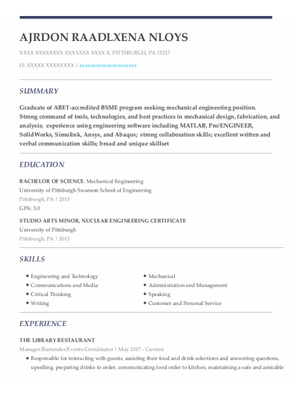 Manager resume template Pennsylvania