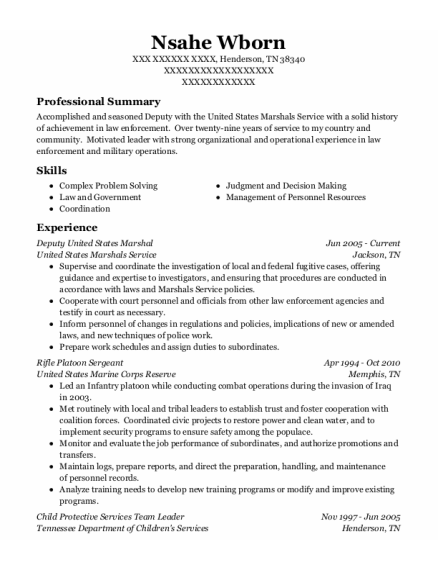 Employment Specialist resume template Tennessee