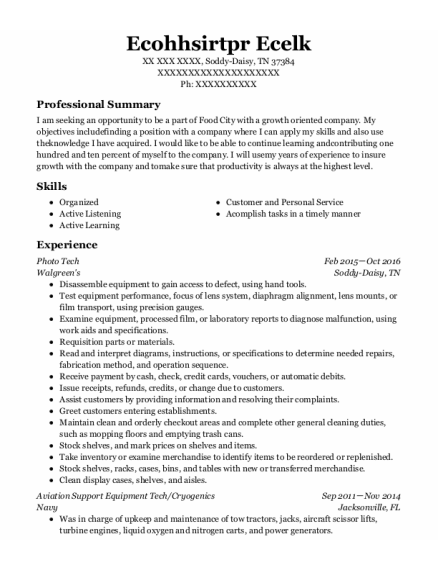photo tech resume example Tennessee