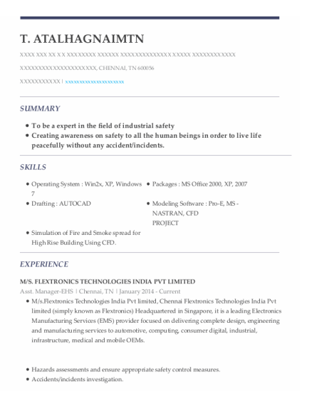 Quality Control Engineer resume format Tennessee