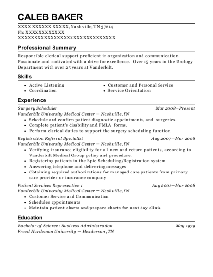 summit surgical associates medical office manager resume