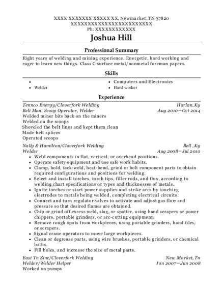 Belt Man resume template Tennessee
