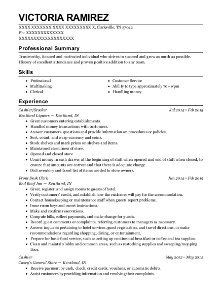Cashier resume example Tennessee