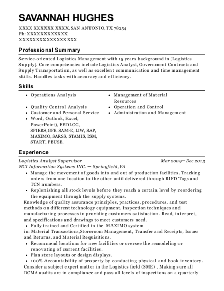 Best Logistics Analyst Resumes | ResumeHelp