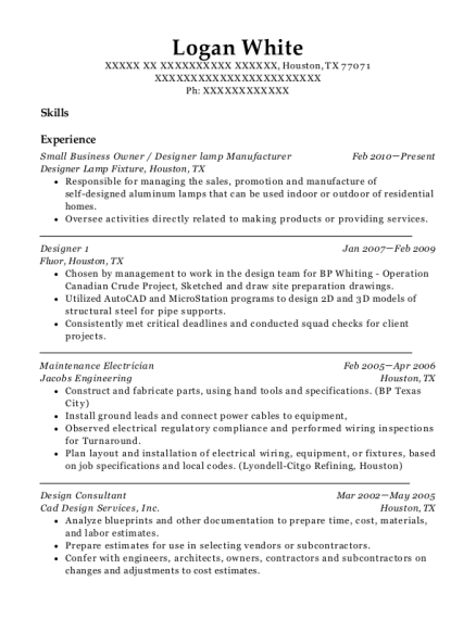 Small Business Owner resume template Texas