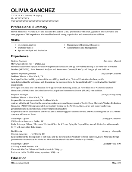 Systems Engineer resume sample Texas
