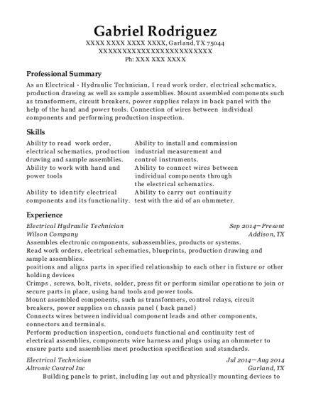 air national guard hydraulic technician resume sample