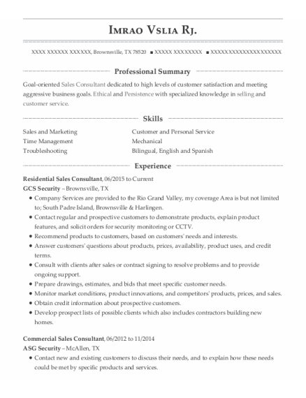 Distribution Manager resume template Texas