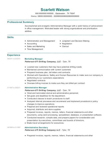 Marketing Manager resume template Texas
