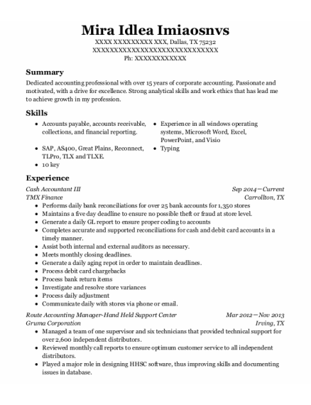 Office Manager resume format Texas