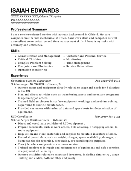 Xpo Logistics Operations Support Resume Sample - Fort Worth