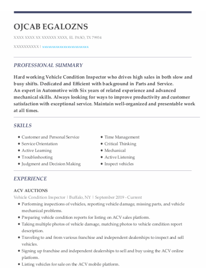 Parts Counter Person resume sample Texas