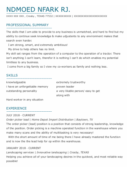 Personal Trainer resume template TEXAS