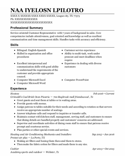 Loss Prevention resume template Texas