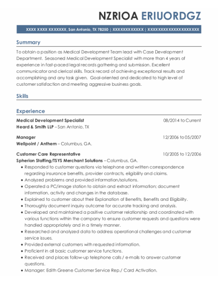 Manager resume sample Texas