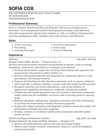 Educator resume format Virgin Islands