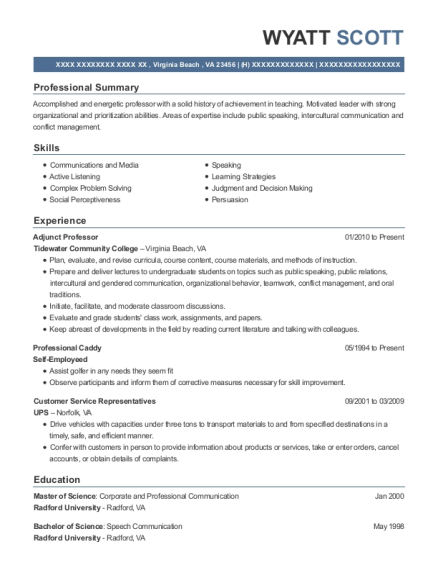 20 Best Professor Resumes Resumehelp