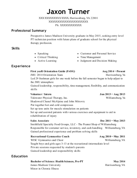 First yeaR Orientation Guide resume sample Virginia