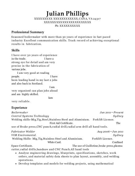 turner industries boilermakers resume sample
