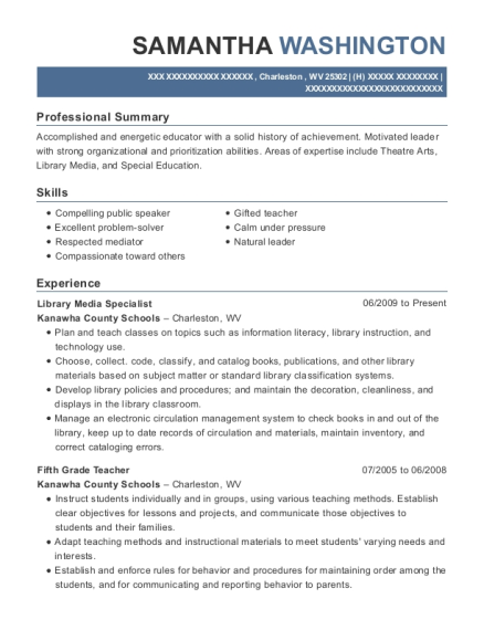 Best Library Media Specialist Resumes