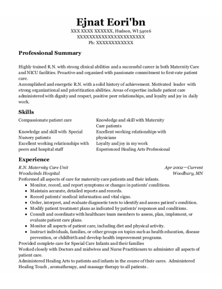 Nursing Instructor resume template Wisconsin